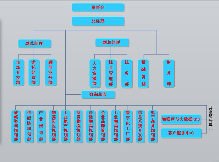 百川归海物流科技组织结构图